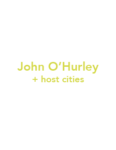 Twitter aplification by John O'Hurley and host cities